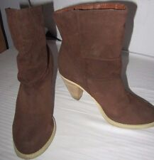 Womens Gabriella Rocha Rust Brown Ankle Boots Size 7