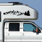 Mountain Range Tree Landscape Scene Vinyl Decal Black Sticker Fit for Car Truck photo