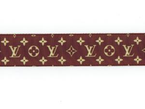 "LV Louis Vuitton Monogram PATTERN 1.5"" Grosgrain Ribbon by Yard SHIP FROM US"