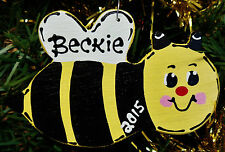 U CHOOSE NAME & YEAR Personalized BUMBLEBEE Christmas ORNAMENT Holiday Decor