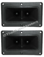 Pair 4 x 6 inch Flush Mount Dual Super Horn TWEETER Speakers Car Home Pro Audio