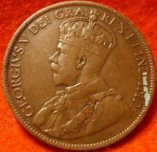 1913 XF CANADA LARGE CENT George V COIN NoRes CANADIAN <---<