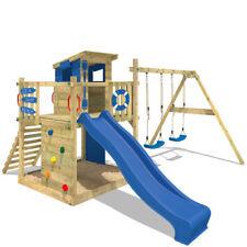 Parco giochi legno con altalena e scivolo Casetta da gioco - WICKEY Smart Camp