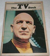 DETROIT FREE PRESS ~ THE TV BOOK, Telly Savalas: Banking on Bald ~ SEPTEMBER '75