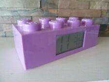 Official Lego Purple Brick Block Children Kids Alarm Clock