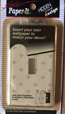 NOS Style Paper It Light Switch Cover Plate Clear American Tack & Hardware 1998