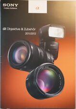 SONY + Zeiss Alpha Objektive & Zubehör Prospekt, 44 S., 2011/2012, APS-C,NEX,VF