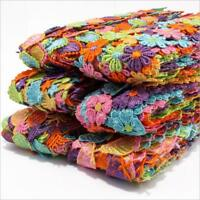 2 Yards Colorful Flower fruit shape Embroidered lace decoration Appliques Sewing