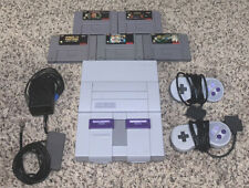 Super Nintendo System + Super Mario All Stars Game Bundle Console SNES Tested!