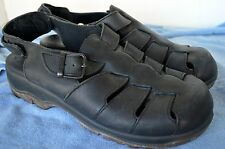 Men's Dansko Sport Black Leather Fisherman Sport Sandals, Size 47 (13.5) EUC