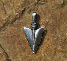 Viking Pendentif Flèche Argent Plus Bracelet en Cuir Amulette Argent Sterling