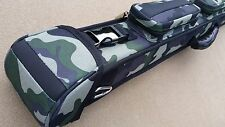 New Action 2x3 Camouflage Pool Cue Case, Army Green 'Camo', Carabiner Hooks