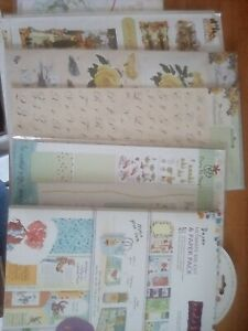 Papermania card making materials/ kits Craft room clear out