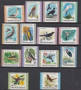 MONTSERRAT:1970-4  Birds definitives  1c-$10  SG242-54c MNH