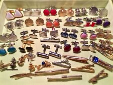 Bars & Tacks Lot Great Collection - Huge 40 Piece Men's Jewelry Cuff Link, Tie