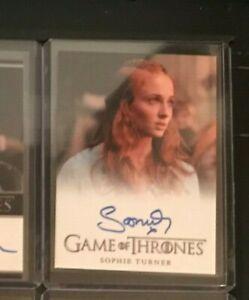 Sophie Turner Game of Thrones Season 2 Autograph Card Sansa Stark