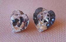 Hypoallergenic Lead and Nickel Safe Swarovski Elements Clear Large Heart Shape