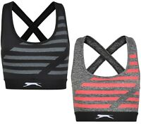 New Slazenger Maxi Sports Bra Top Tank Vest - Ladies Womens Gym Training Fitness