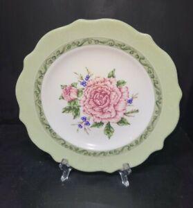 """(3) 8.75"""" PRINCESS HOUSE Vintage Garden Salad Lunch Plates Florals EXCELLENT"""
