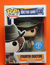 FUNKO POP TELEVISION DOCTOR WHO #232 FOURTH DOCTOR BARNES & NOBLE EXCLUSIVE 🌈