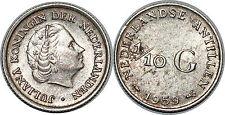 NETHERLANDS ANTILLES  1/10 GULDEN 1959 KM#3