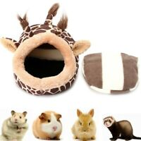 Small Animal cotton Bed Cave Cute Soft Pet Cozy Nest For Guinea Pig Hamster Rat