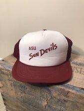 Vintage Arizona State University snapback Trucker Hat Sun Devils ASU mesh cap