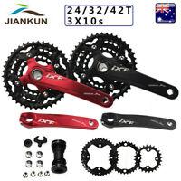 24/32/42T 3X10S Triple Speed Crankset 104/64bcd MTB Bike Chainring Crank set BB
