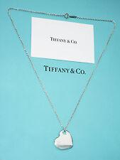 Tiffany & Co Argento Sterling Due Cuori Ciondolo Collana 18 in (ca. 45.72 cm)