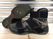 Nike Lebron Soldier X 10 SFG Shoes Camo Green Olive Black SZ 16 ( 844378-022 )