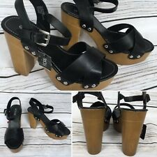 Open Toe Block Heel Summer Sandals Size 7 UK Brand New With Tags