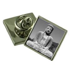 Great Budha Sterling Silver Lapel Pin Gift Box