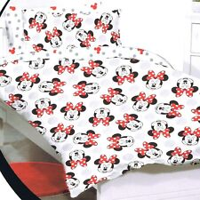 Minnie Mouse - Disney - Faces - Single/US Twin Bed Quilt Doona Duvet Cover Set