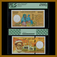 Comoros 10000 Francs, ND (1997) P-14 PGCS 67 PPQ