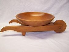 Hand-Made Wooden Wheelbarrow Candy/Nut Bowl-Very Unique! Woodcraftery