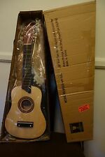 "NEW 25"" MINI GUITAR - NATURAL WITH MANY ACCESSORIES - ""S"" BRAND - MADE IN CHINA"
