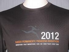 2012 Pasadena Marathon Adult Small Black Polyester T-Shirt (S Run Running Runner