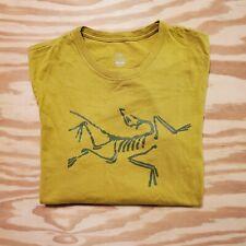 Arcteryx T-shirt Mens Medium Big Skeleton Logo Mustard Skeletal Rare Color