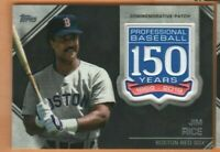 2019 Topps Baseball - 150 Years Patch Relic Card - Jim Rice - Boston Red Sox