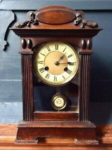 Antique Victorian ART NOUVEAU Mantel Clock,14 Days Striking Movement,Working,Key
