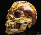 "5.0"" MOOKAITE JASPER Carved Crystal Skull, Realistic, Crystal Healing"