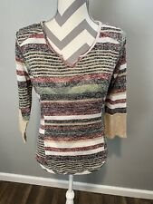 Jr Womans Almost Famous V Neck 3/4 Sleeve Top Size X Large