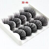 5Pairs 3D46 False Eyelashes Long Thick Mixed Fake Eye Lashes Makeup Mink UK