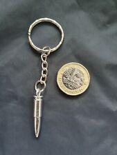 Army Sniper Bullet Weapon Gun Key Chain Key Ring Tibetan Silver