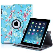 32nd Floral Design Leather Folio 360 Stand Case for Apple iPad 2 3 4 ...