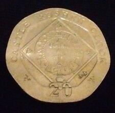 Elizabeth II Twenty Pence 20p Coin Isle of Man 2007 Castle Rushden Clock
