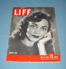 LIFE MAGAZINE JULY 24 1944 JENNIFER JONES HENRY FORD CHARLES DEGAULLE TOM DEWEY