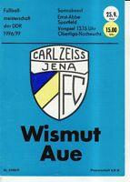 OL 76/77  FC Carl Zeiss Jena - BSG Wismut  Aue