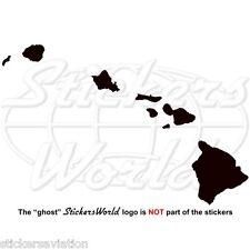 HAWAII Kartenform Hawaiische Silhouette USA Vinyl Sticker, Aufkleber JEDE FARBE
