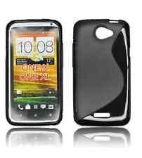 FUNDA GEL TPU NEGRA HTC ONE X  MODELO S LINE
